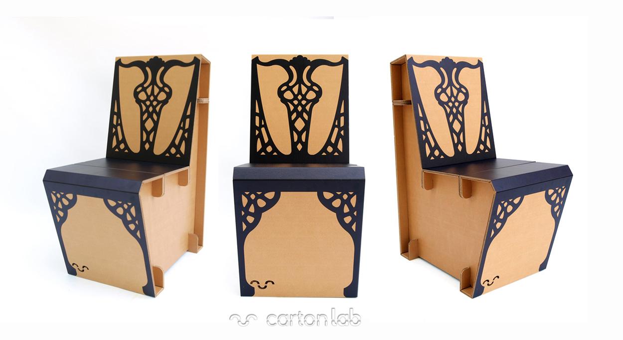 Sillas De Cart N # Frank Gehry Muebles De Carton