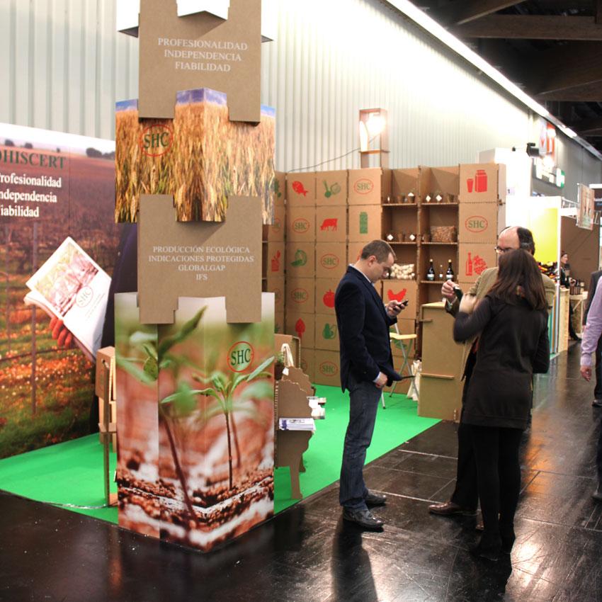 stand carton cartonlab cardboard booth sohiscert biofach nuremberg 09