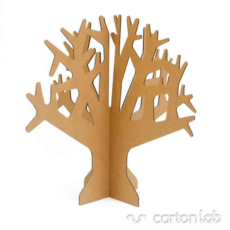 Rbol de cart n - Como hacer un arbol de navidad de carton ...