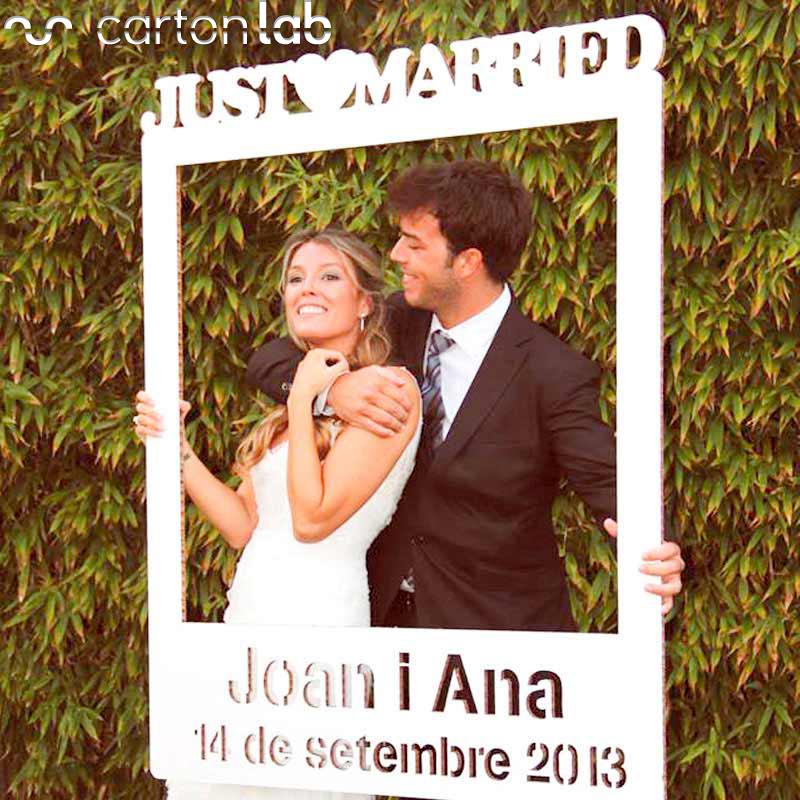 Photocall Polaroid para bodas.