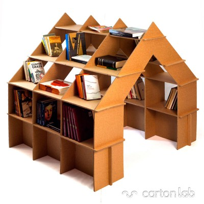 casita estanteria carton cartonlab cardboard house shelf bookshelves (1)