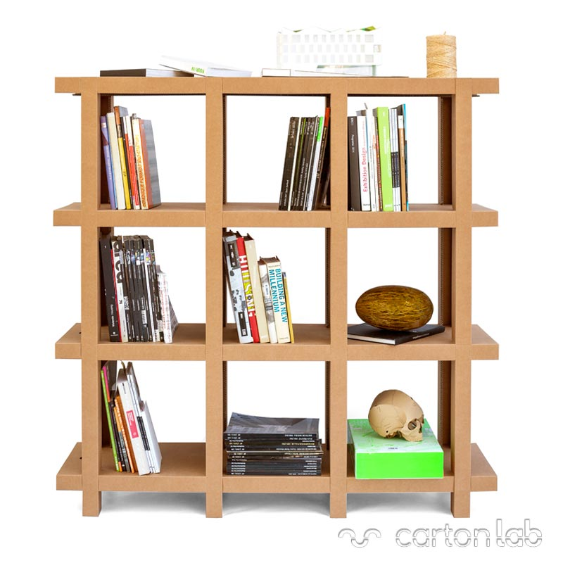estanteria carton cartonlab cardboard shelf bookshelves (3)