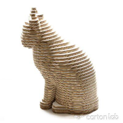 gato carton cartonlab rascador cardboard cat figura 3D (2)