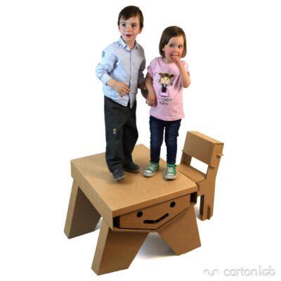pupitre carton cartonlab cardboard desk kids mesa infantil niños