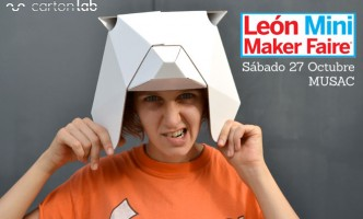 maker faire leon cartonlab taller mascaras animales carton