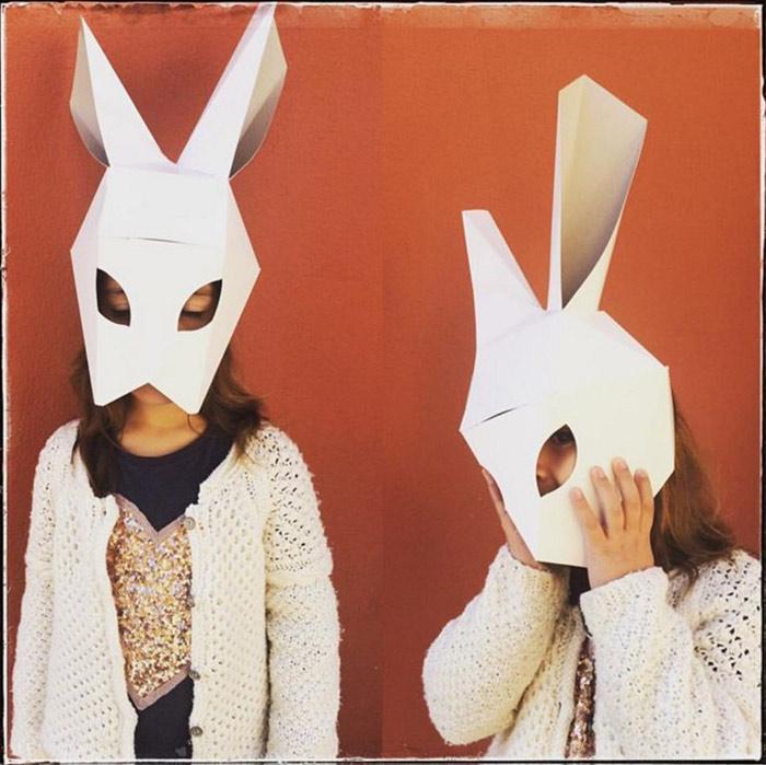 mascara conejo carton talleres infantiles