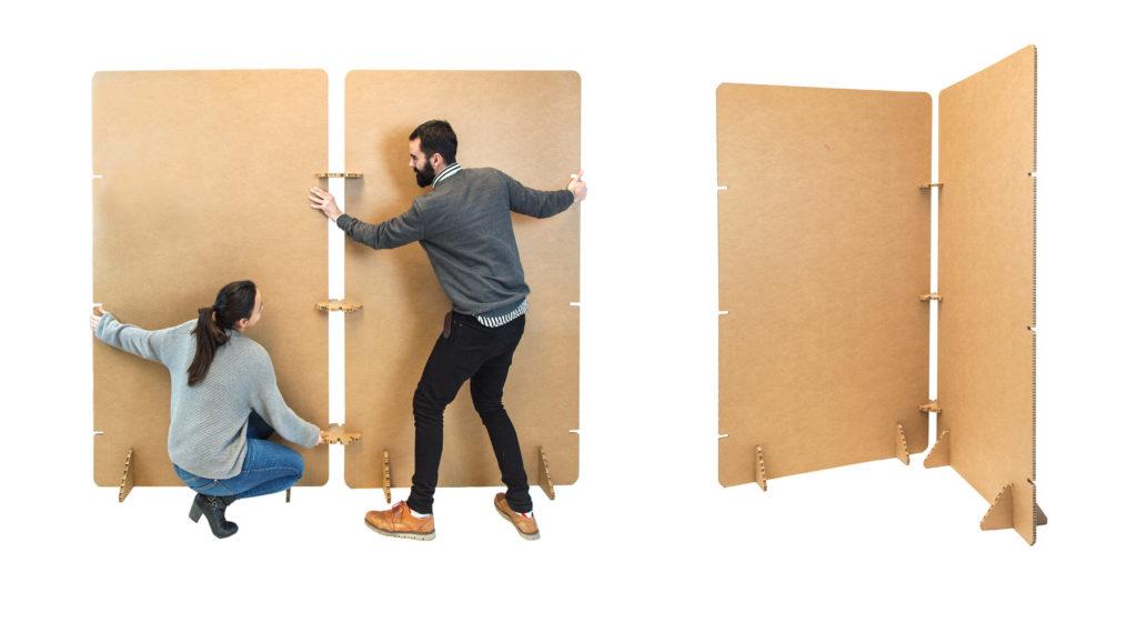 Dise o de exposiciones en cart n - Panelados para paredes ...