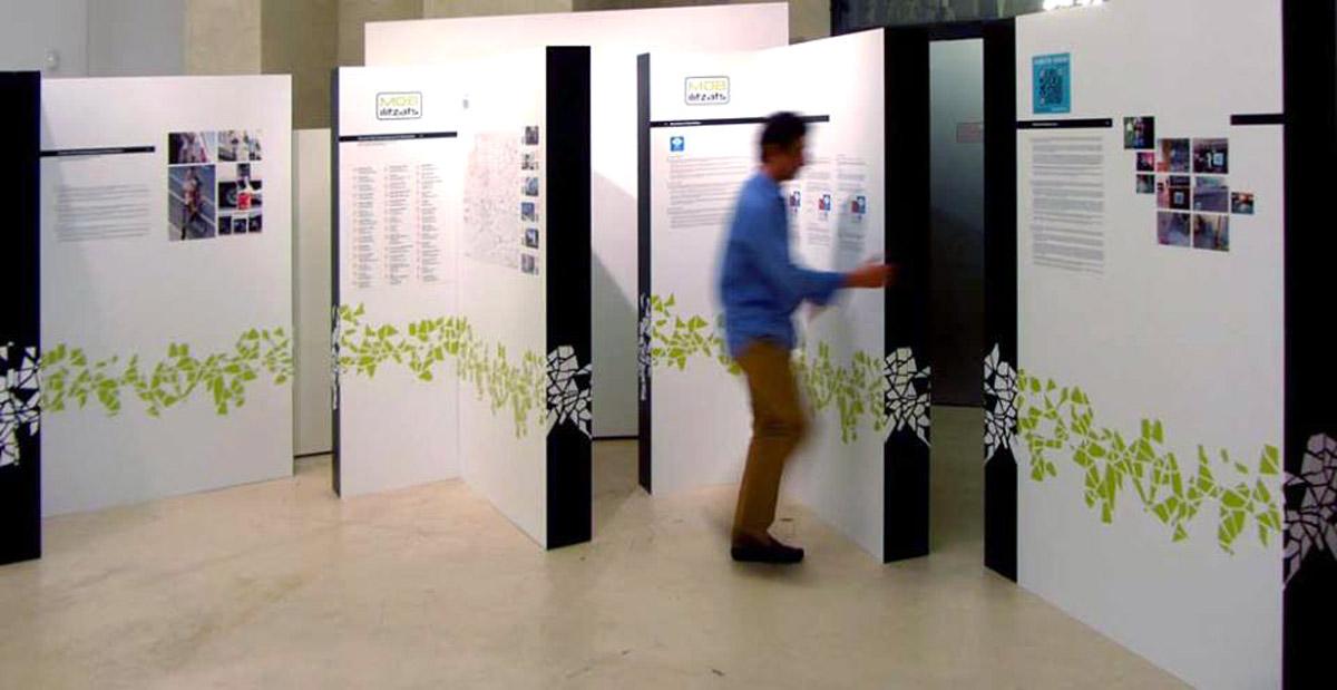sistema paneles expositivos en carton