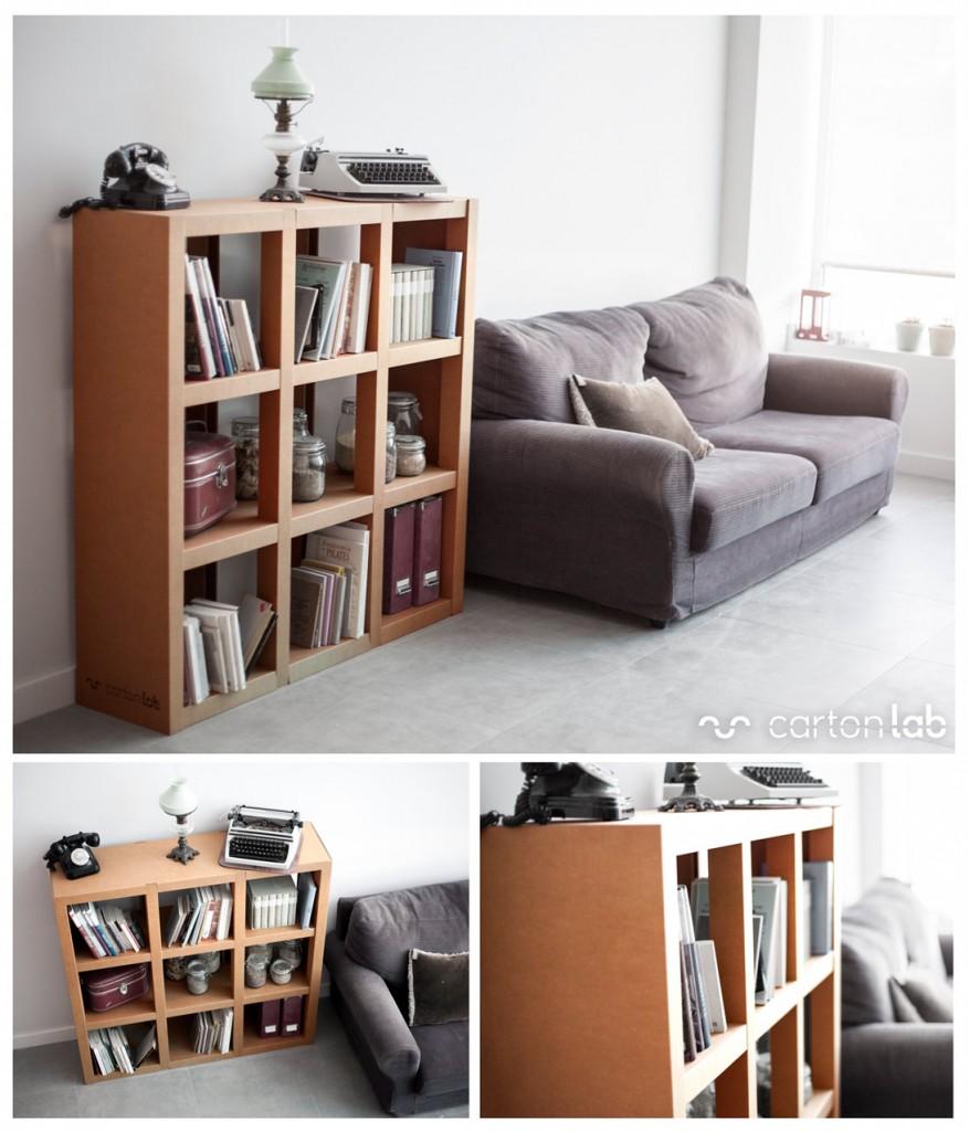 Muebles de cart n resistentes ligeros y sostenibles for Hacer muebles con carton