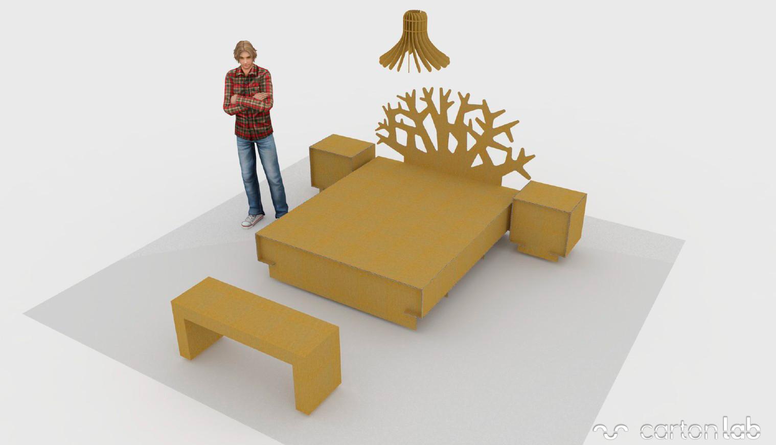 home-staging-cardboard-furniture-bedroom