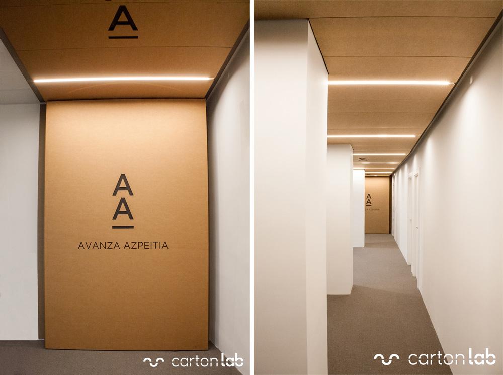 cardboard ceiling panels falso techo paneles de cartón cartonlab diseño espacio trabajo oficinas (2)