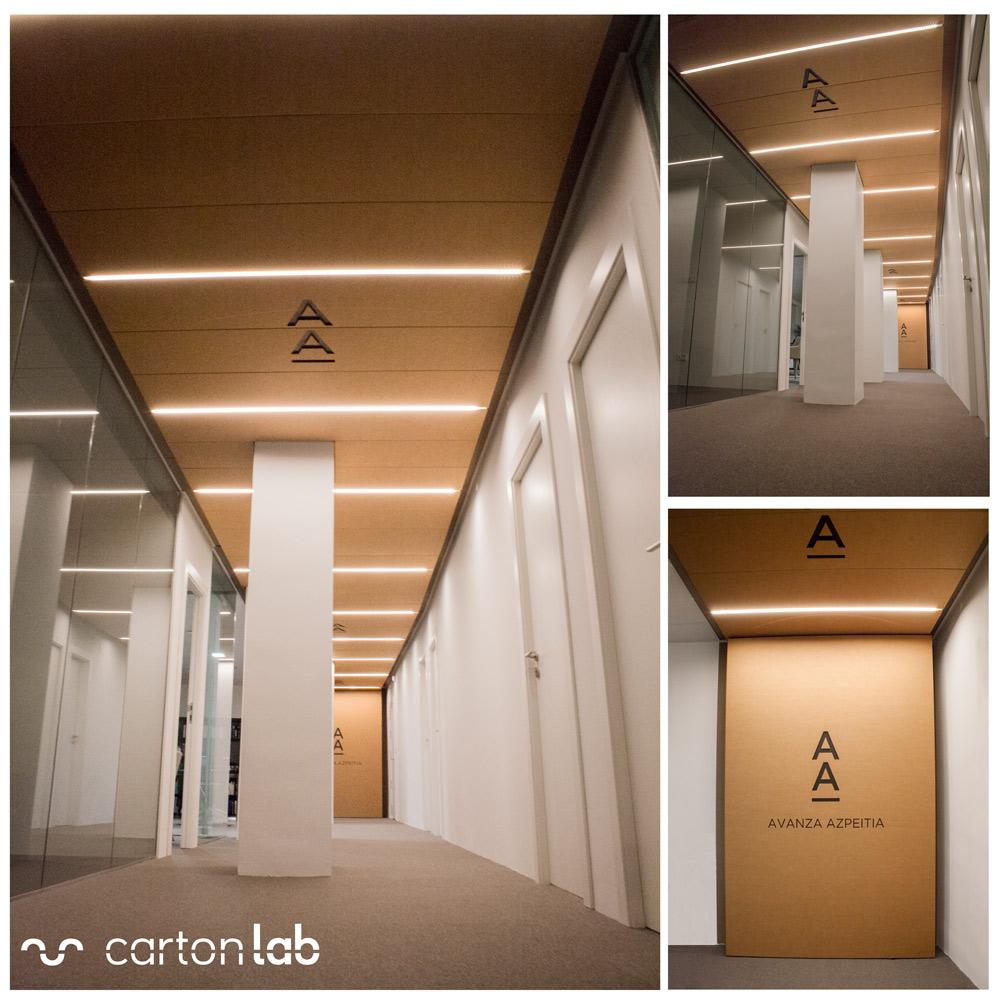 cardboard ceiling panels falso techo paneles carton cartonlab (3) Diseño de espacios de trabajo oficina abogados avance corporate azpeitia