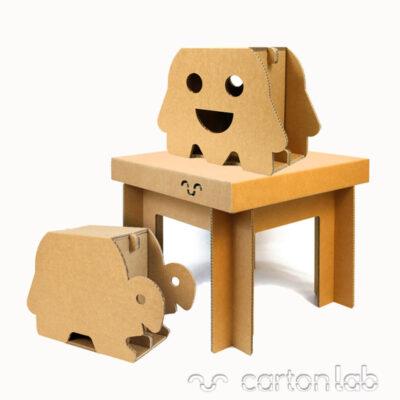 pack vuelta cole cartonlab mueble infantil niños carton (4)