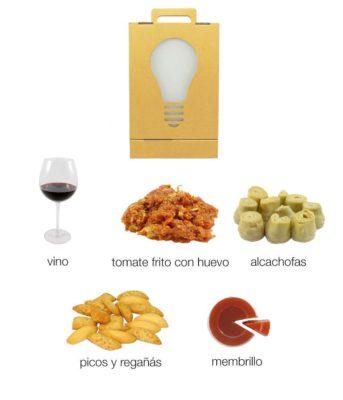 caja regalo gastronomico alimentos murcianos clasico box carton n