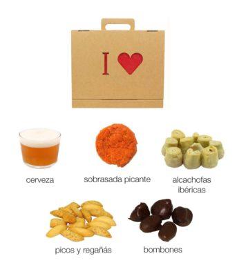caja regalo gastrononomico box carton