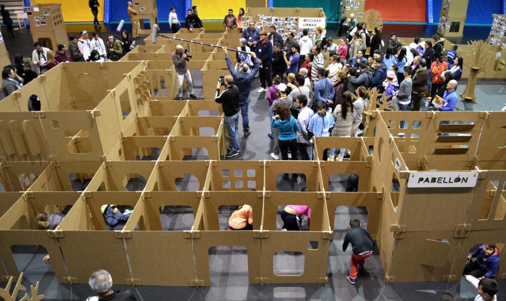participación ciudadana espíritu santo laberinto de cartón laberinto carton Cartonlab
