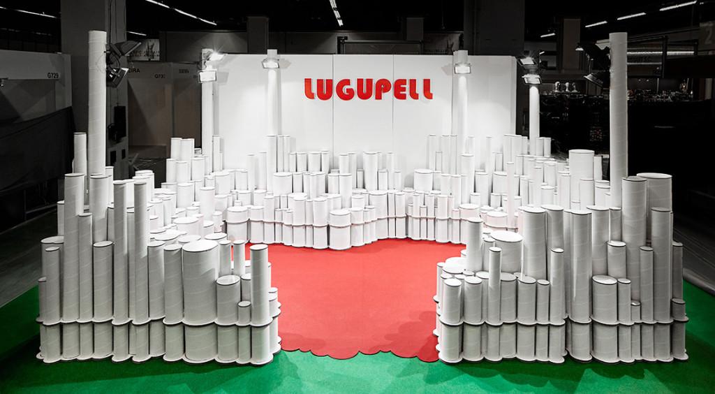 stand con tubos de carton cartonlab lugupell