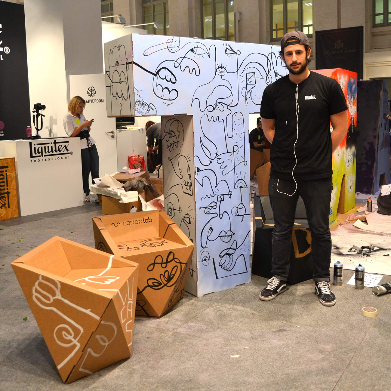 art madrid feria arte letras mobiliario carton corporeos gigantes ied madrid 7