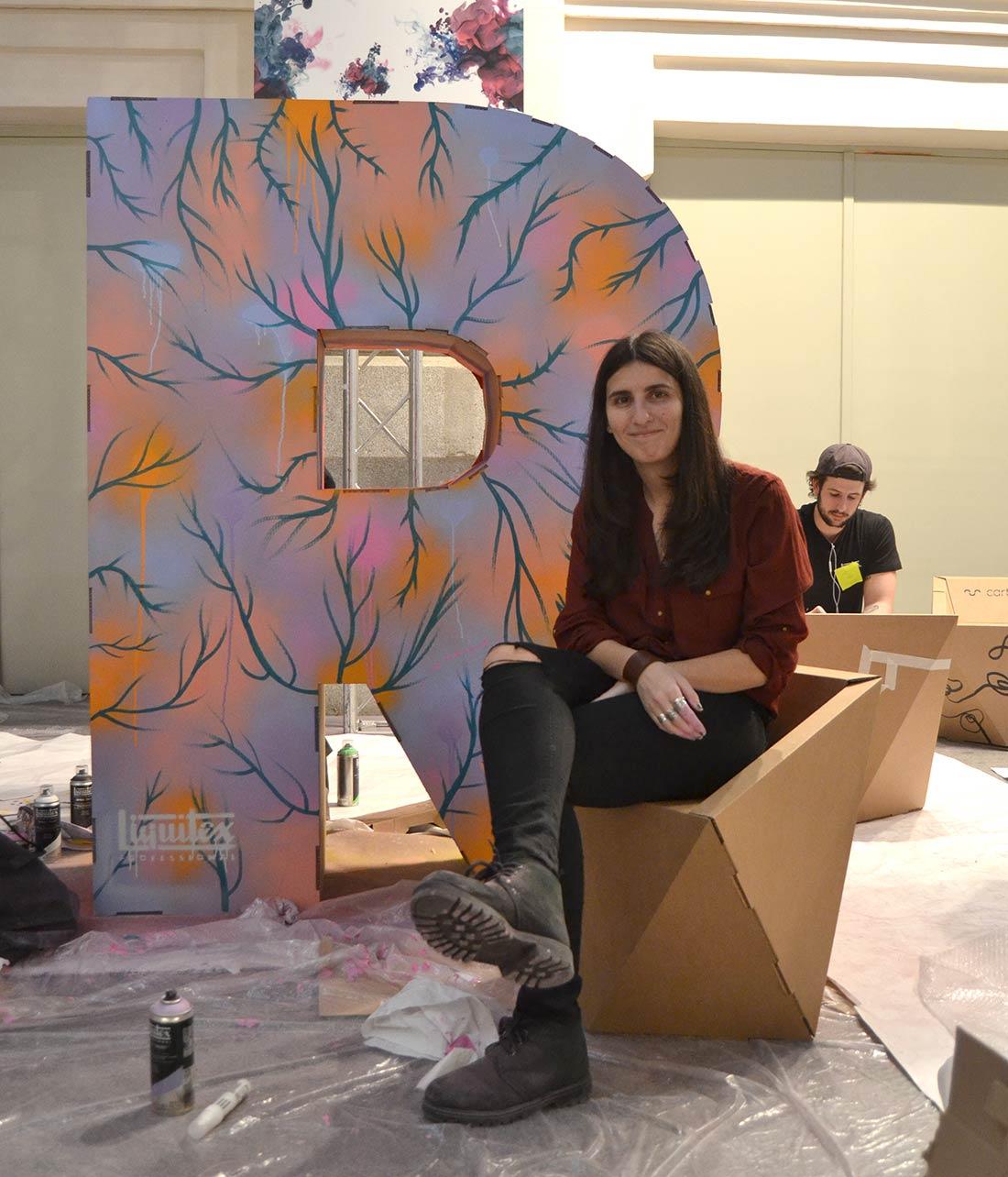 art madrid feria arte letras mobiliario carton corporeos gigantes ied madrid 10