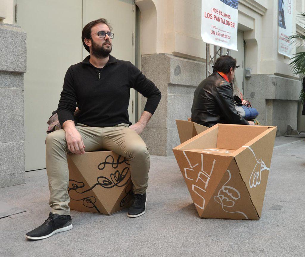 mobiliario para eventos corporativos muebles eventos carton cartonlab