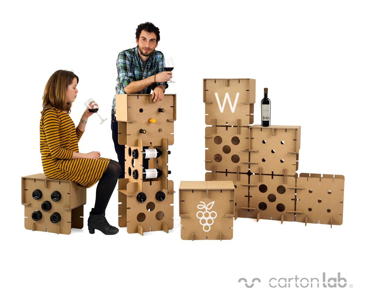 Los botelleros m s originales y sostenibles - Botelleros de vino ...