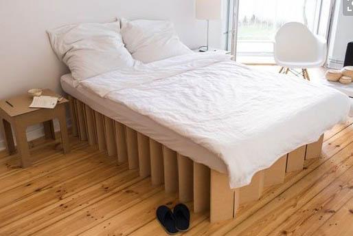 cama de carton auxiliar plegable ecologica cartonlab 2