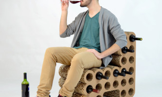 sillon botelleros más originales vino expositor carton cartonlab 01
