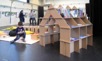 casita estanteria feria libro infantil haya cartonlab