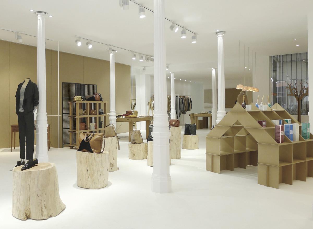 muebles ecologicos carton Concept Store en Madrid dada concept cartonlab mobiliario interior design retail
