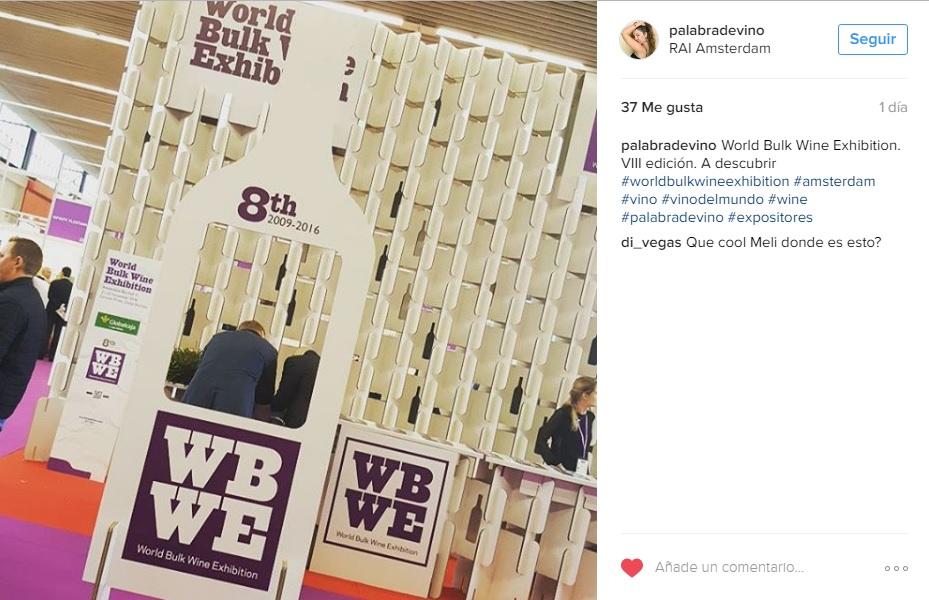 world bulk wine exhibition 2016 modular cardboard design stand para feria de vino 5