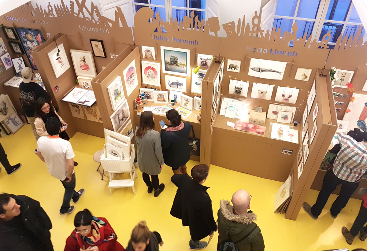 stands de carton museo abc