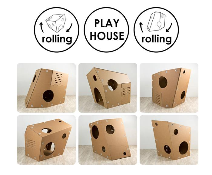 playhouse funny paper rolling casitas de cartón