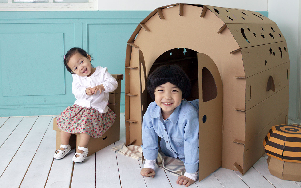 playhouse funny paper casitas de cartón originales cartonlab