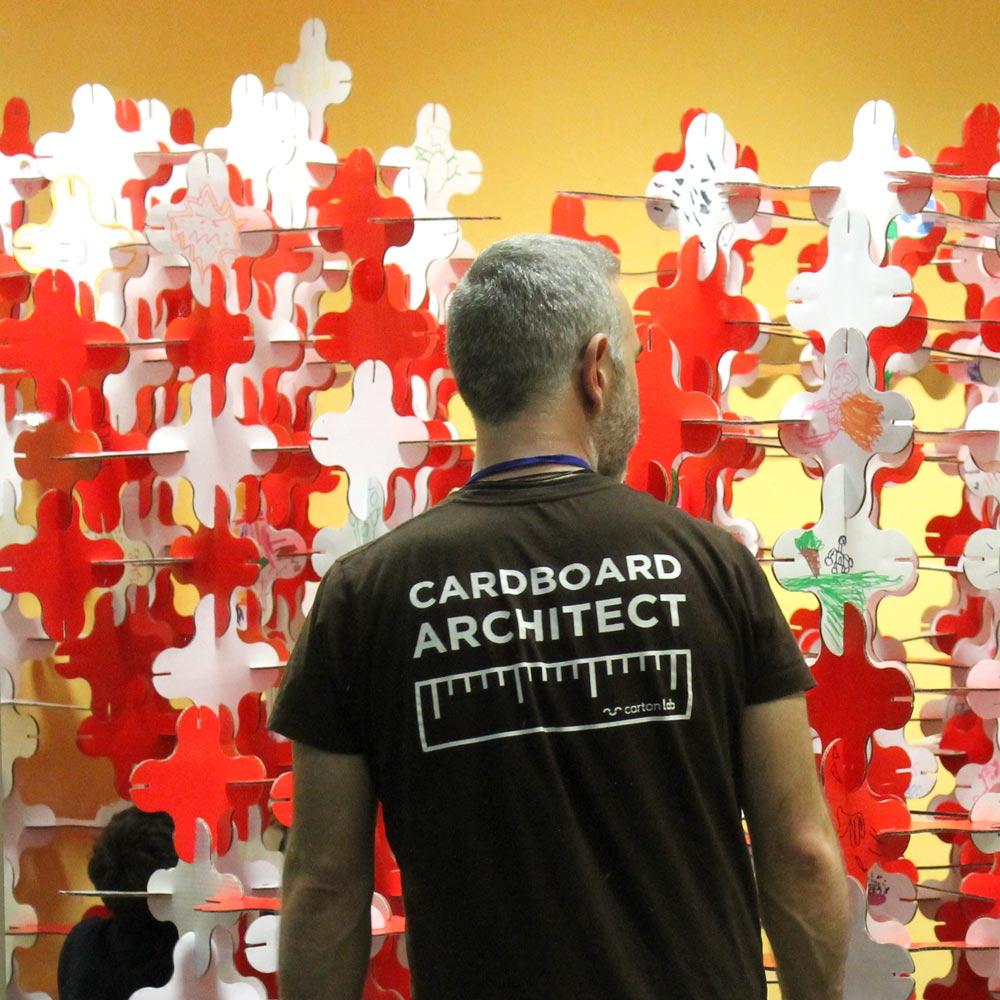 talleres infantiles navideños pozuelo estructuras magicas en carton cartonlab cardboard architect