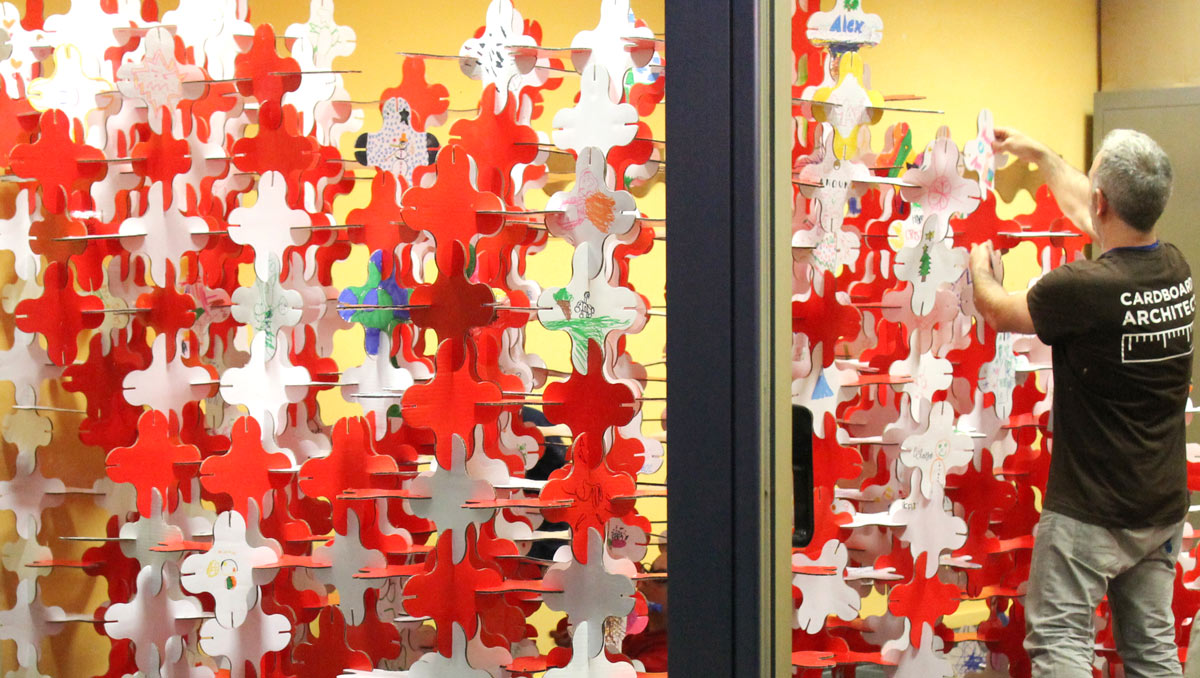 talleres infantiles navideños pozuelo de alarcon estructuras magicas en carton cartonlab 03