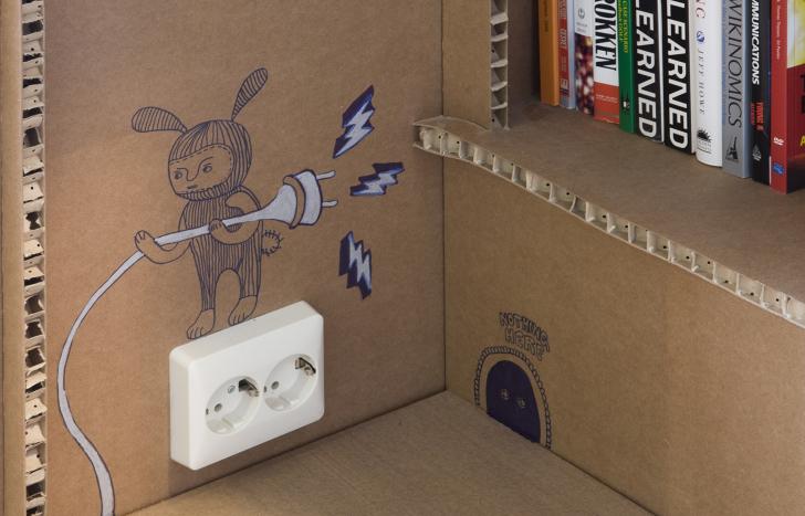 cardboard office nothing amsterdam agency diseño de espacios de trabajo en carton 02