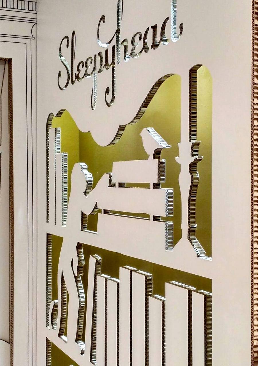 pop up store harrods cardboard sleepyhead cartonlab troquelado carton stand feria shop retail design tienda efimera