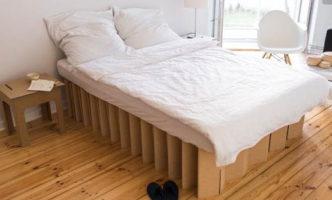 cama de carton plegable ecologica cartonlab