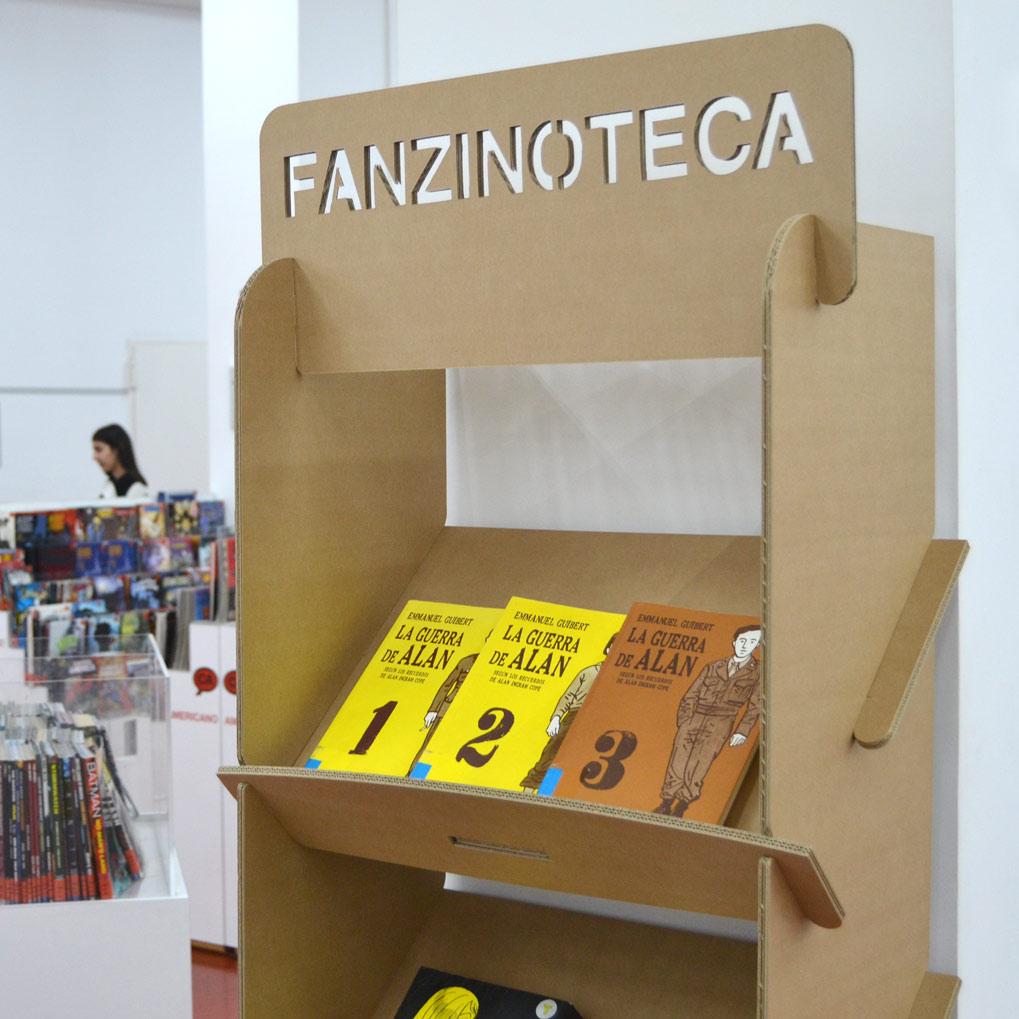 revistero estanteria expositor portafolletos carton biblioteca exposiciones eventos