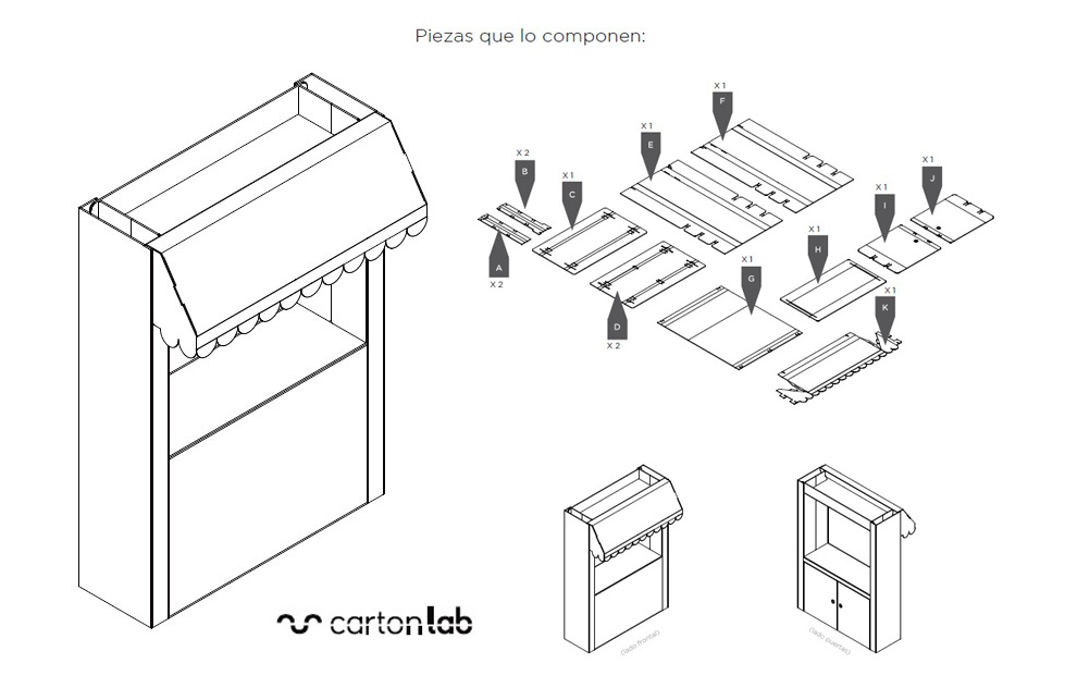 instrucciones montaje stand promocional portatil tendetere kiosko carton
