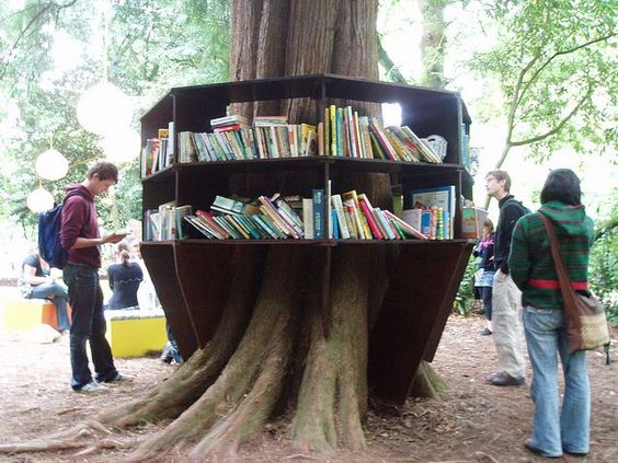 bookcrossing arbol estante