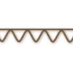 una cara onda carton ondulado