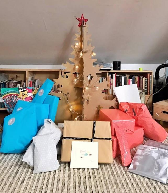 arbol klaus navidad carton abeto cartonlab árbol de navidad de cartón
