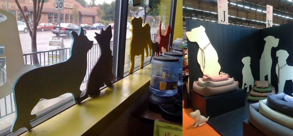 siluetas animales carton tienda animales mascotas