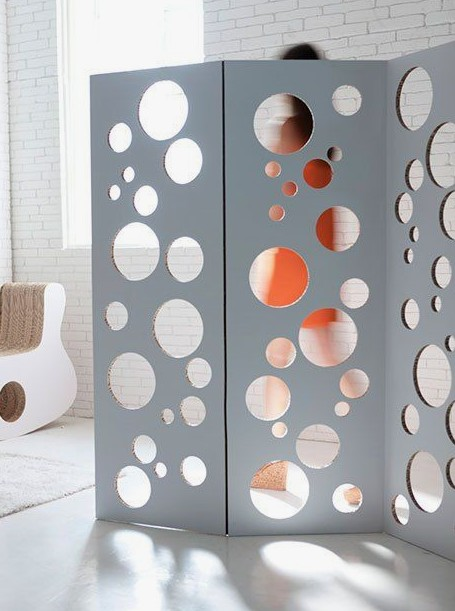 Bubbles by Gloook biombo carton divisor separador espacios ambientes trabajos habitacion separar
