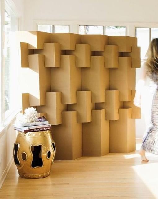 Margaret Van Sicklen biombo carton modular plegable separar ambientes espacios