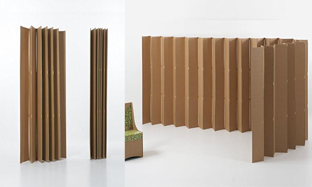 biombo carton kubedesign separar dividir espacios ambientes