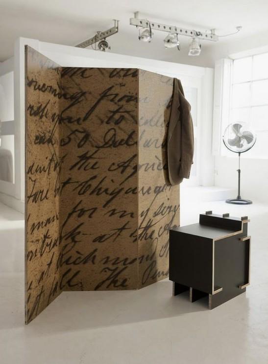 biombo carton impreso separar ambientes dividir espacios oficinas hogar