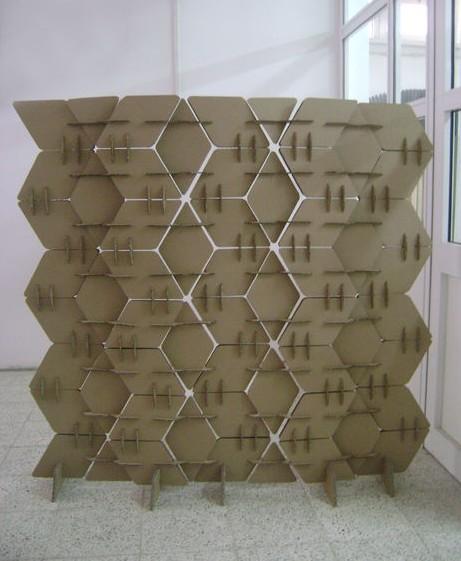 biombo modular carton flexible plegable