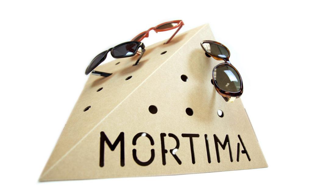 expositor gafas soporte escaparate carton